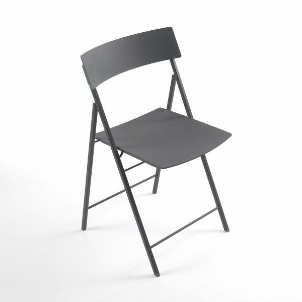 Set 6 sedie pieghevoli design moderno in acciaio e plastica Piper
