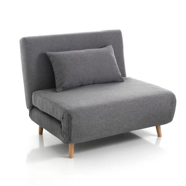 Poltrona letto singolo design moderno in tessuto Garner