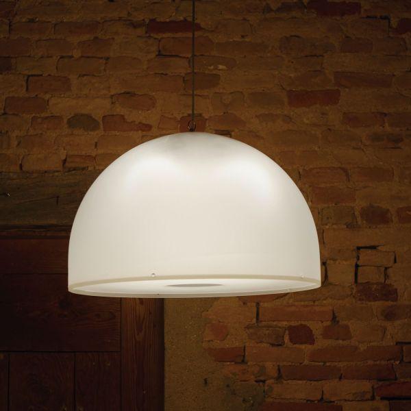 Lampada a sospensione in plexiglass satinato Ø62 cm Brunella
