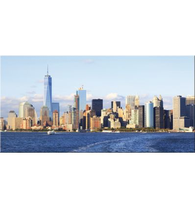 Quadro New York stampa su tela Lower Manhattan 140 x 70 cm