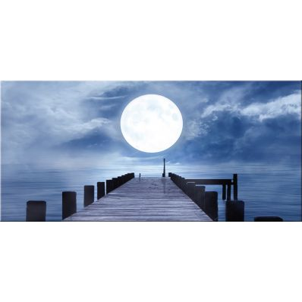 Quadro paesaggio moderno stampa su tela The Moon