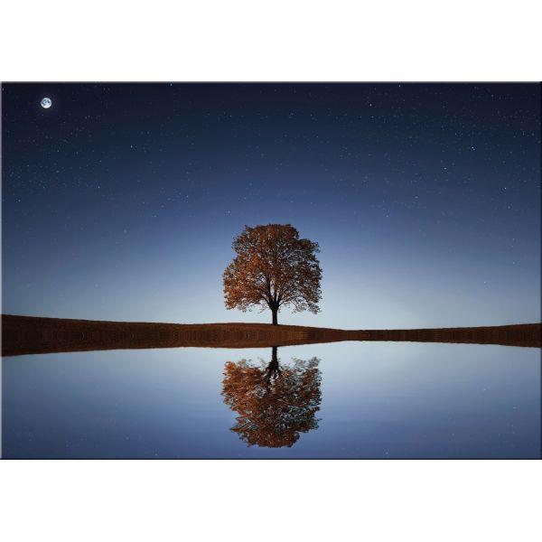 Stampa su tela quadro con paesaggio tramonto Reflex