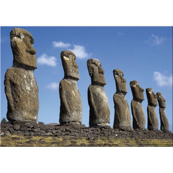 Stampa digitale quadro su tela moderno paesaggio Rapa Nui