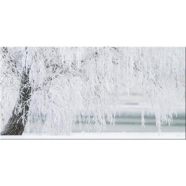 Quadro paesaggio invernale con neve stampa su tela Frozen