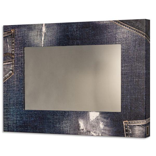 Specchio camera da letto con cornice Jeans
