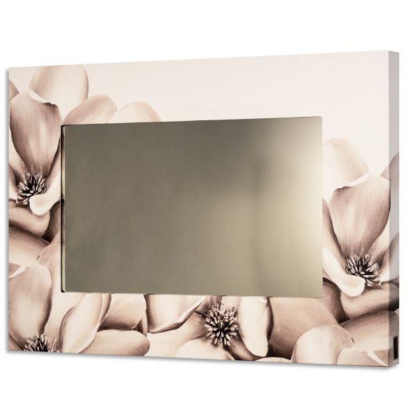 Specchio da parete design moderno con cornice Flowers