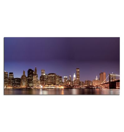 Quadro moderno New York di notte stampa su tela Lights