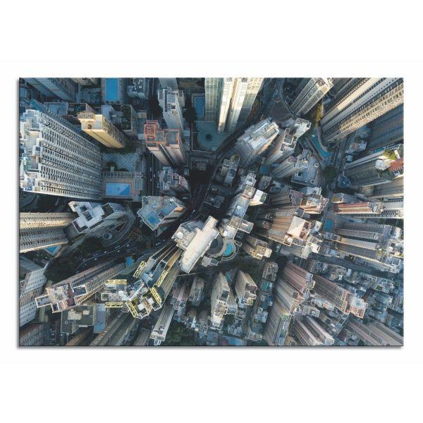 Quadro New York dall'alto stampa su tela skyline moderna