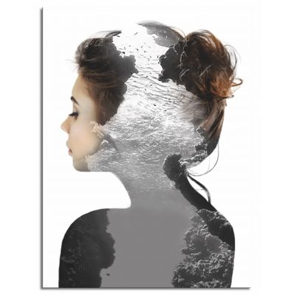 Stampa su tela con ritratto di donna Into The Water