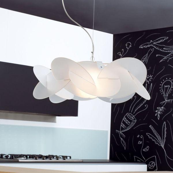 Lampada a sospensione a LED in plexiglass vari colori Bea
