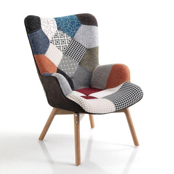 Poltrona patchwork multicolor design moderno Treveur