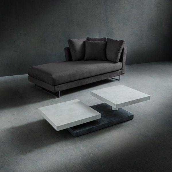 Tavolino salotto moderno in laminato 140 x 60 cm Arnald
