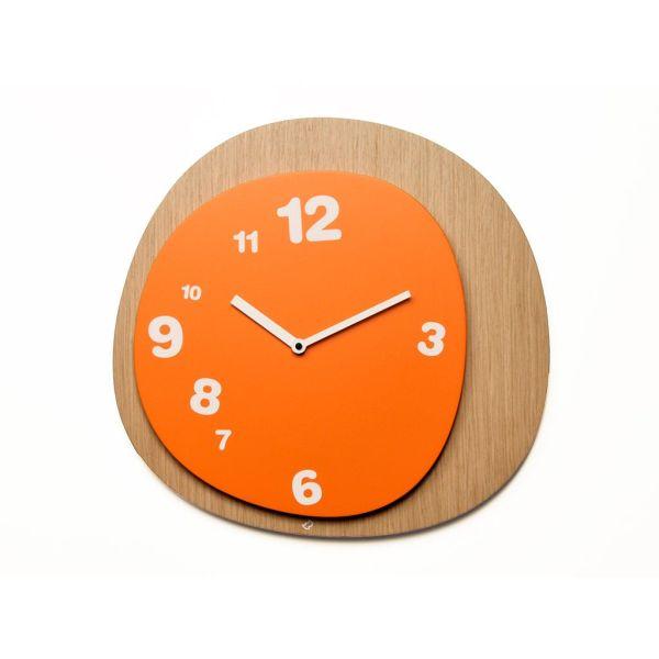 Orologio da muro design moderno in legno naturale Woodie