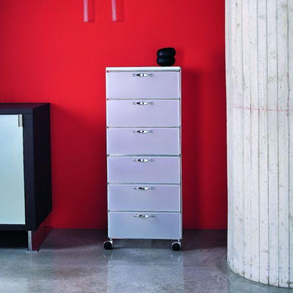 Cassettiera per ufficio con ruote a 6 cassetti Isotta