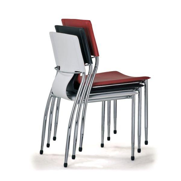 4 sedie per sala conferenza riunione o attesa in ecopelle JLOG4P