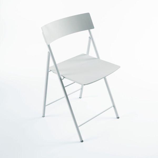 Set 6 sedie pieghevoli con carrello salvaspazio Piper