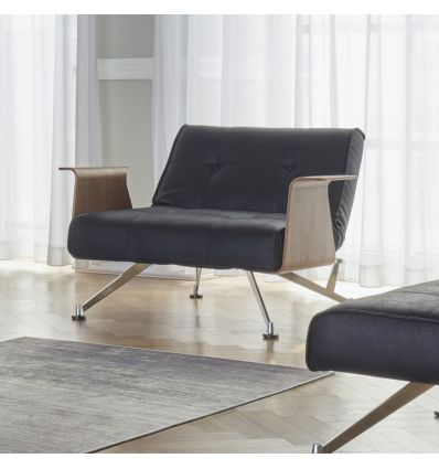 Poltrona design moderno trasformabile in pouf chaise longue Clubber