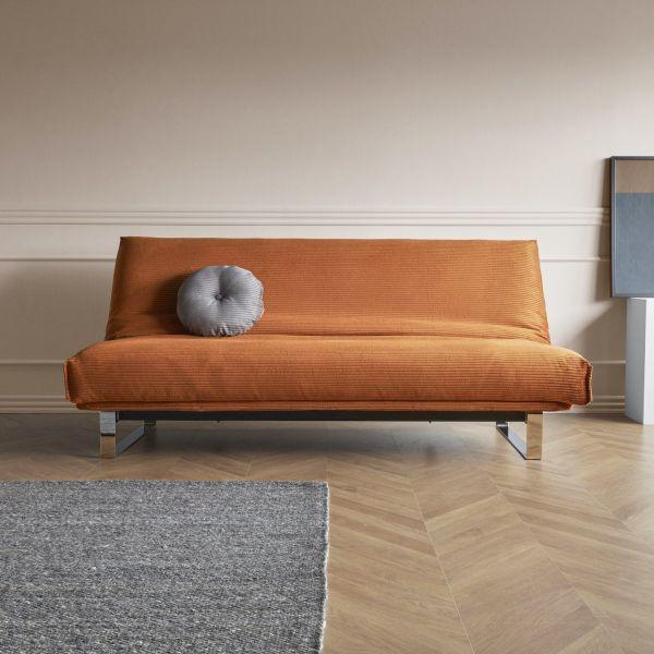 Divano letto Minimum matrimoniale reclinabile materasso classico 140 x 200 cm - 595 Corduroy Burnt Orange