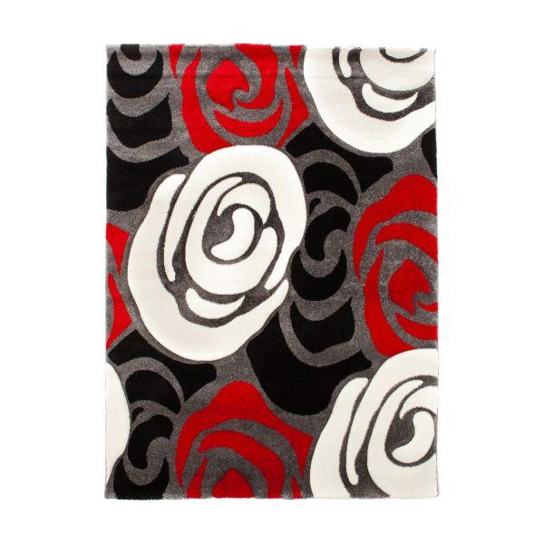 Tappeto moderno da salotto 140x190 cm New Roses