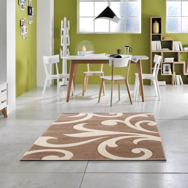 Tappeto contemporaneo da salotto 160x230 cm Oman Crema