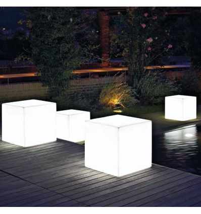 Pouf luminoso da esterno in polipropilene 40x40 cm Cascavel