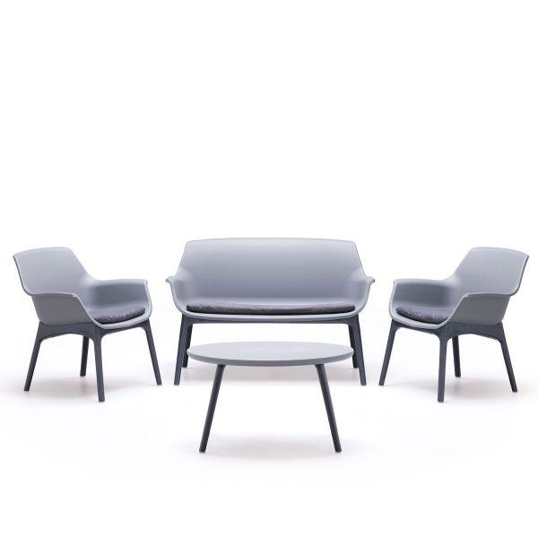 Set da giardino divano poltrone e tavolino Tim