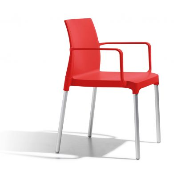 Set 4 sedie a poltroncina da giardino design moderno Valona