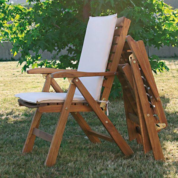 Poltrona da giardino in legno massello teak TeakOnMe