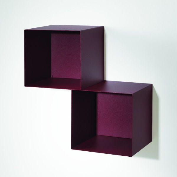 Cubi da parete in acciaio design moderno Twin