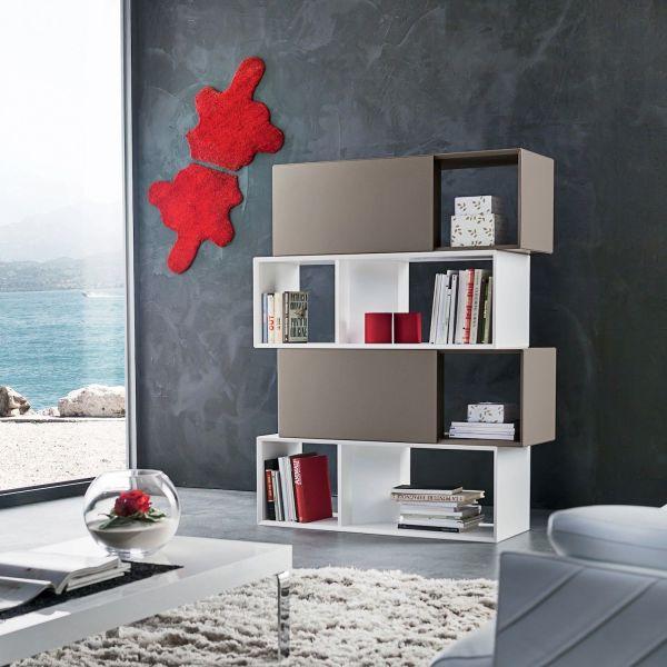 Libreria divisoria bifacciale per soggiorno Gabriel