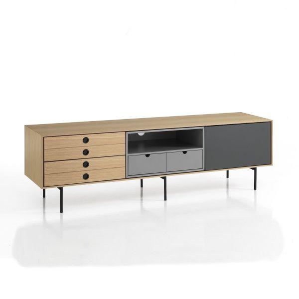 Mobile porta TV design moderno in legno Bennet