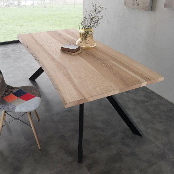 Tavolo da cucina in metallo e legno massello Learn