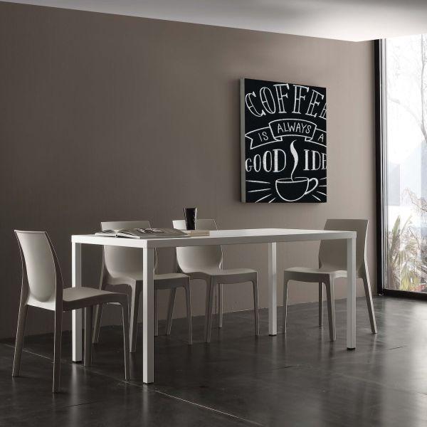 Tavolo design in acciaio per interno esterno Upon