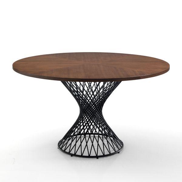 Tavolo rotondo in metallo e legno Stairway