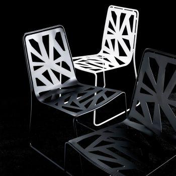 Domino sedia in lamiera laccata sedie moderne design cucina soggiorno