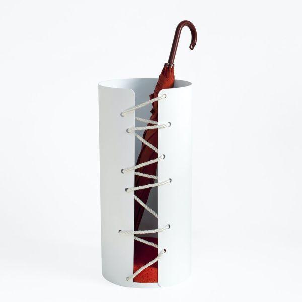 Portaombrelli design moderno in alluminio Nodo Savoia