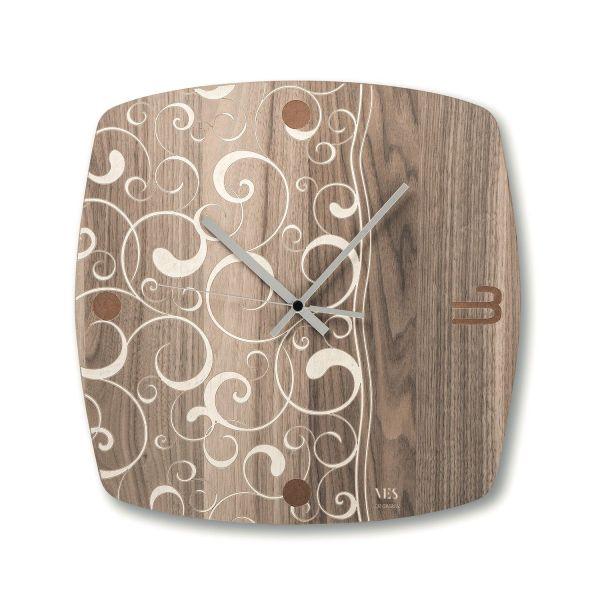 Orologio da parete moderno in legno Acqua