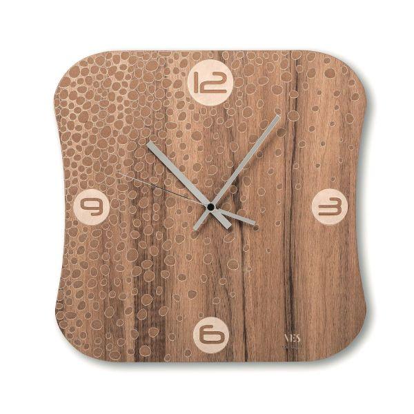 Orologio a muro moderno in legno Terra