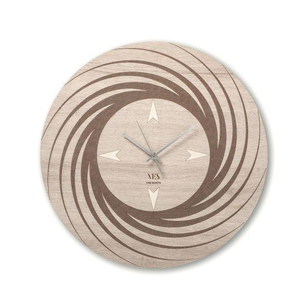 Orologio parete design in legno Aria