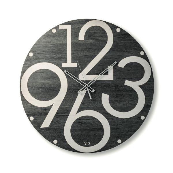 Orologio grande da parete in legno Lubalin