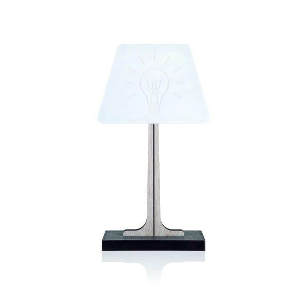 Lampada da tavolo abat jour a LED design moderno Bulb
