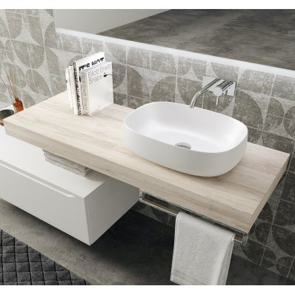 Mobili bagno sospesi design moderno Aroon 90