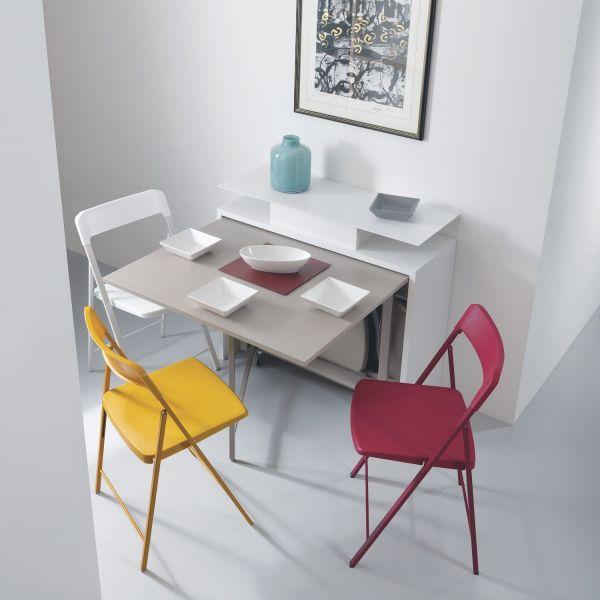 Consolle trasformabile in tavolo con 6 sedie pieghevoli Archimede2