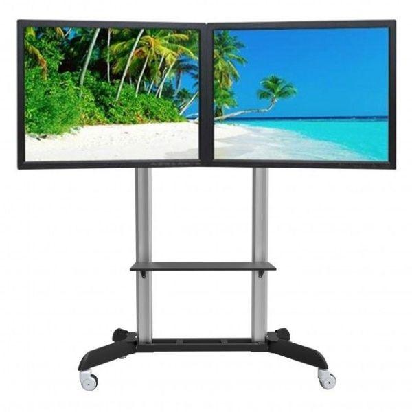 Carrello porta TV per video-wall 2 monitor Wilson2