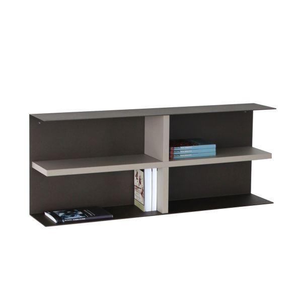 Libreria da parete in acciaio e laminato Bureau