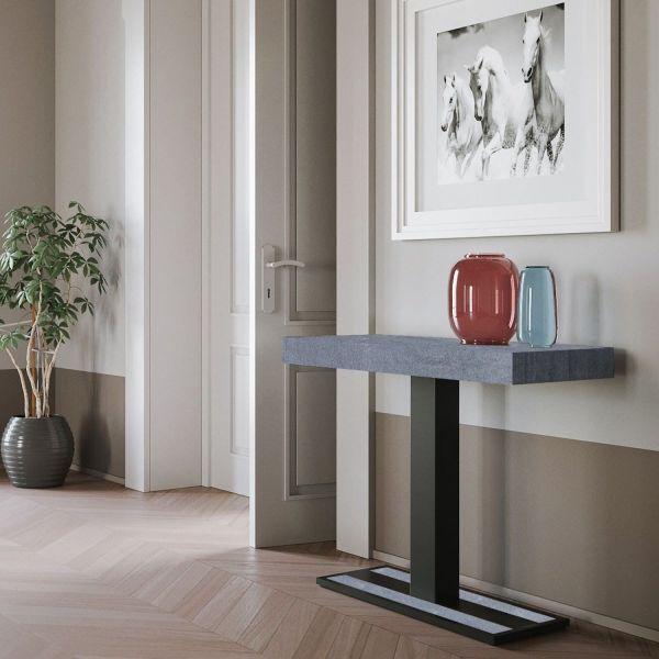 Consolle allungabile moderna in metallo e legno Tregony