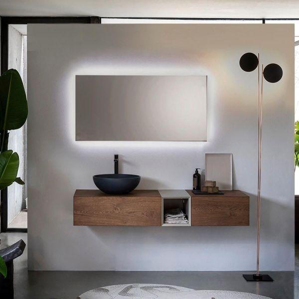 Mobili bagno moderni in legno Qubo 4 di Loetrà