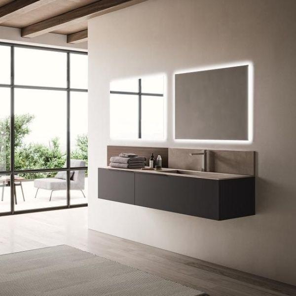 Mobili bagno in legno impiallacciato Style 4 di Loetrà