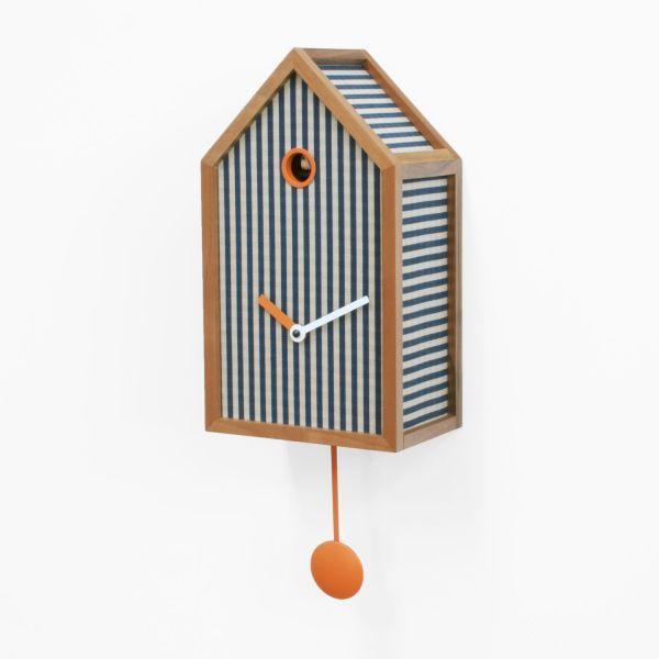 Orologio da parete a cucù con pendolo in legno Mr. Orange