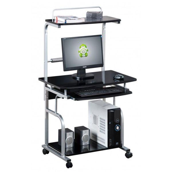 Scrivania porta PC con ruote e porta stampante Kompy